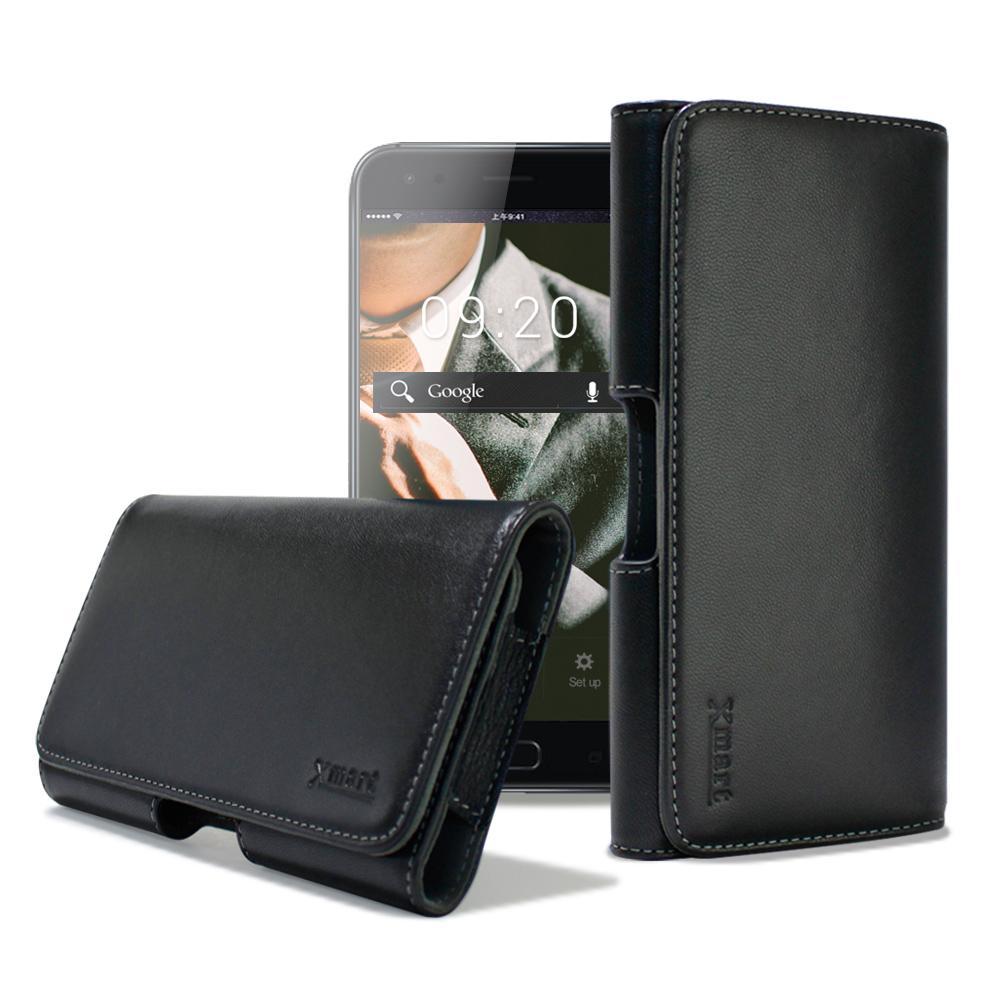 XM ZenFone 4 ZE554KL/Pro ZS551KL 型男羊皮橫式腰掛皮套