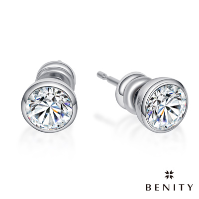 BENITY 唯愛 316白鋼/西德鋼 八心八箭cz單鑽 耳環