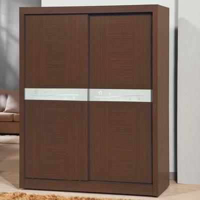 AS-亞5尺胡桃色衣櫃-149x60x200.5cm
