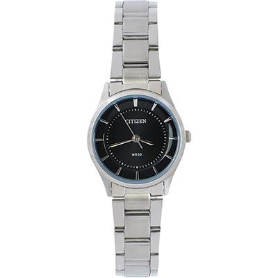CITIZEN星辰 簡潔輕時尚女仕腕錶(ER0200-59E)-黑/27mm