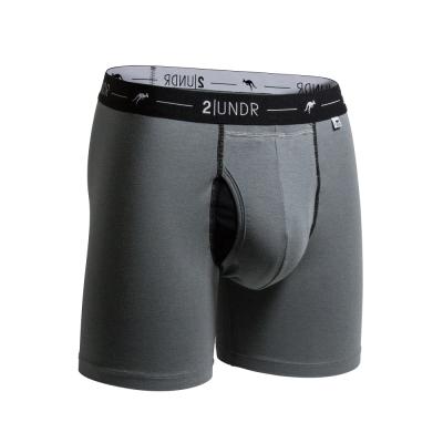 2UNDR Day Shift 舒棉透氣排汗四角內褲(6吋)-灰色