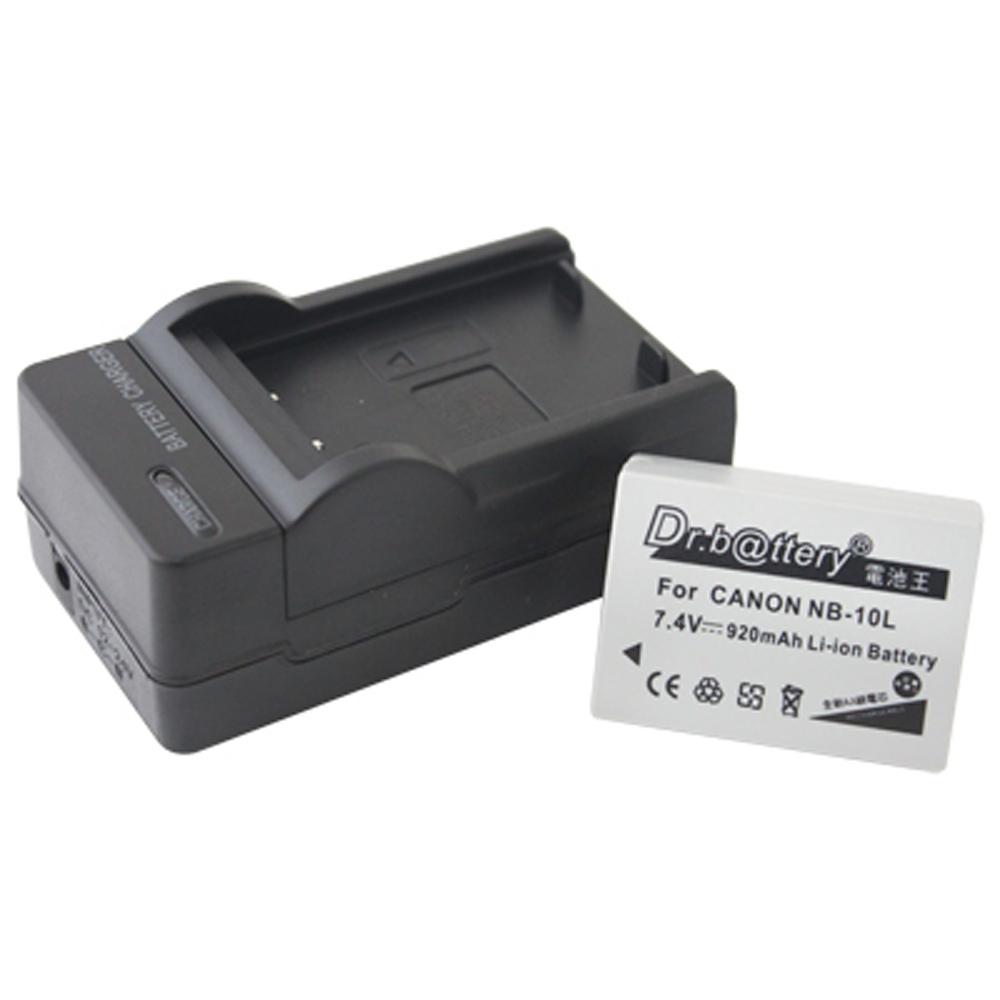 電池王 For Canon NB-10L / NB10L 高容量鋰電池+充電器組