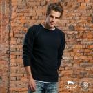 ROUSH 高磅數特殊緹花設計素面針織毛衣 (3色)
