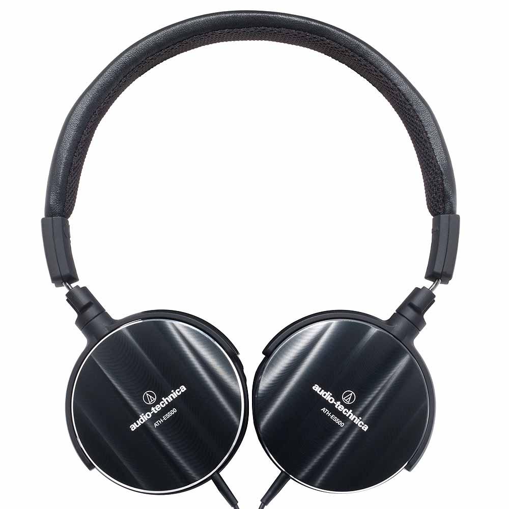 鐵三角 ATH-ES500 波浪紋鋁合金摺疊頭戴式耳機