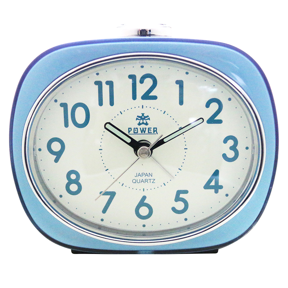 POWER霸王鐘錶-包框鬧鐘-天空藍PA606B-12CM