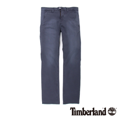 Timberland-男款寶藍色素面口袋休閒長褲