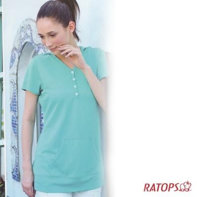 【瑞多仕】女款 COOLMAX 連帽長版上衣_DB7984 翠綠色 V1