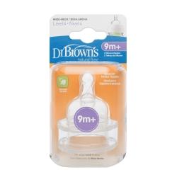 GMP BABY 美國Dr.Brown 4入9個月+ 寬口防脹氣奶嘴