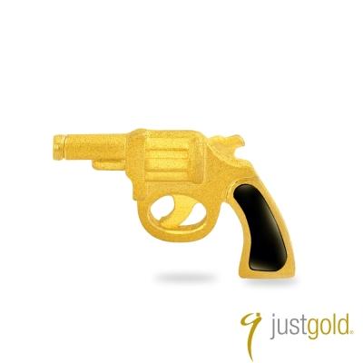 鎮金店Just Gold 黃金單耳耳環 繽紛派對 手槍