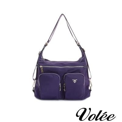 Volee飛行包 - 旅行日記三用肩背包 法國紫