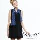 OUWEY歐薇 雪紡壓褶二件式背心洋裝
