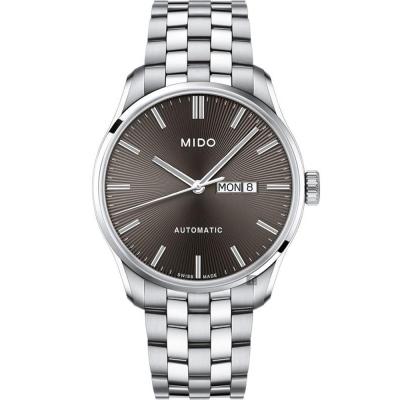 MIDO美度 Belluna Gent 經典日期機械錶-灰x銀色/42mm