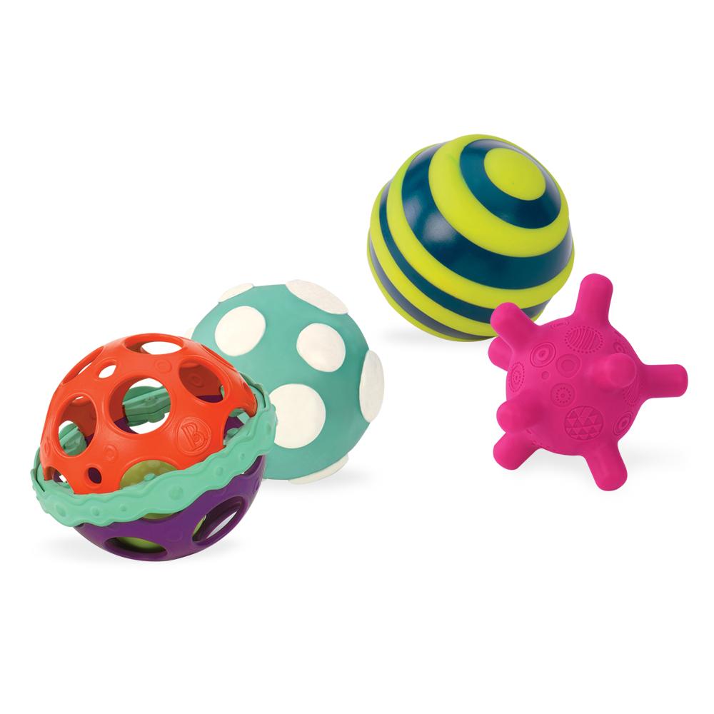 美國【B.Toys】星奇四觸覺感統球