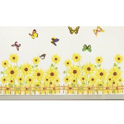 A- 056 花草系列-圍欄踢腳線 大尺寸高級創意壁貼 / 牆貼