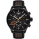 TISSOT天梭 CHRONO XL NBA 騎士隊特別版計時錶-黑/45mm