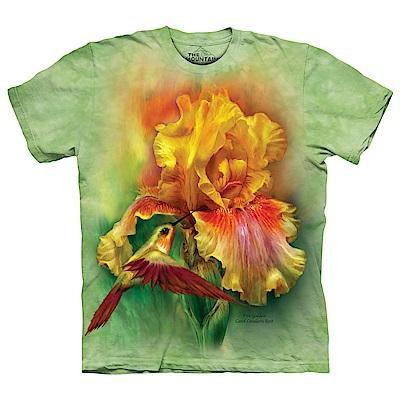 摩達客 美國進口The Mountain 烽鳥與花 純棉環保短袖T恤
