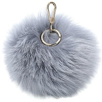 FURLA BUBBLE 狐狸毛球吊飾(灰藍色)
