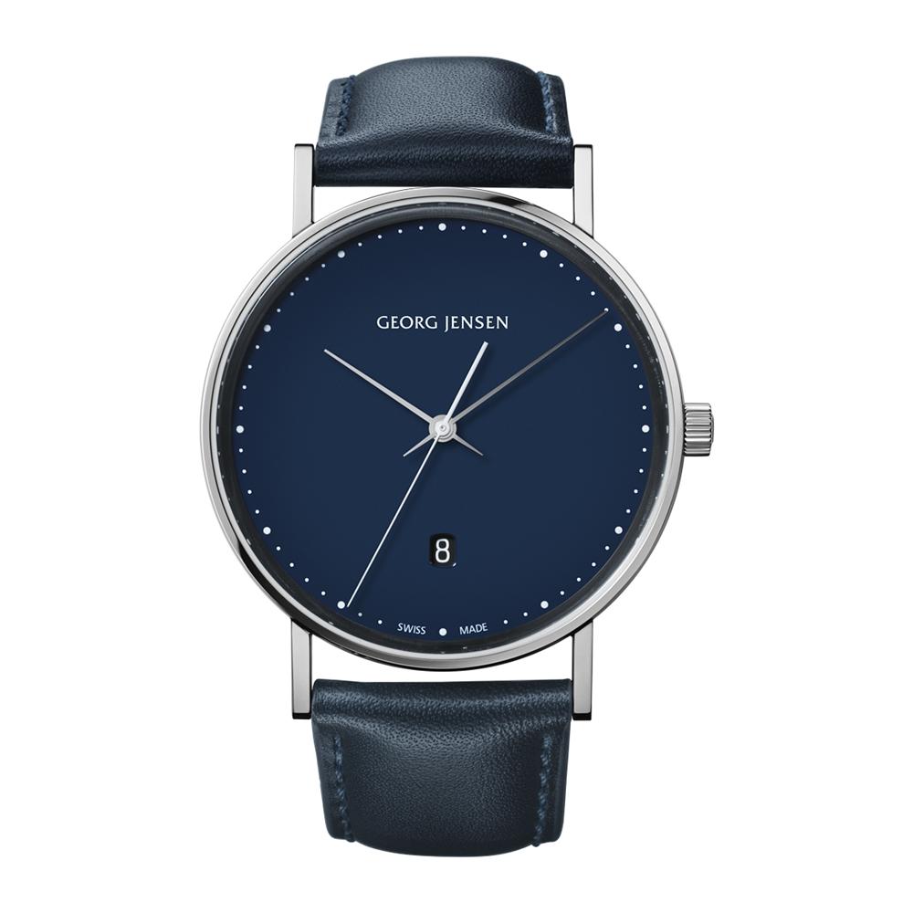 GEORG JENSEN 喬治傑生-KOPPEL系列經典時尚手錶-藍-41mm