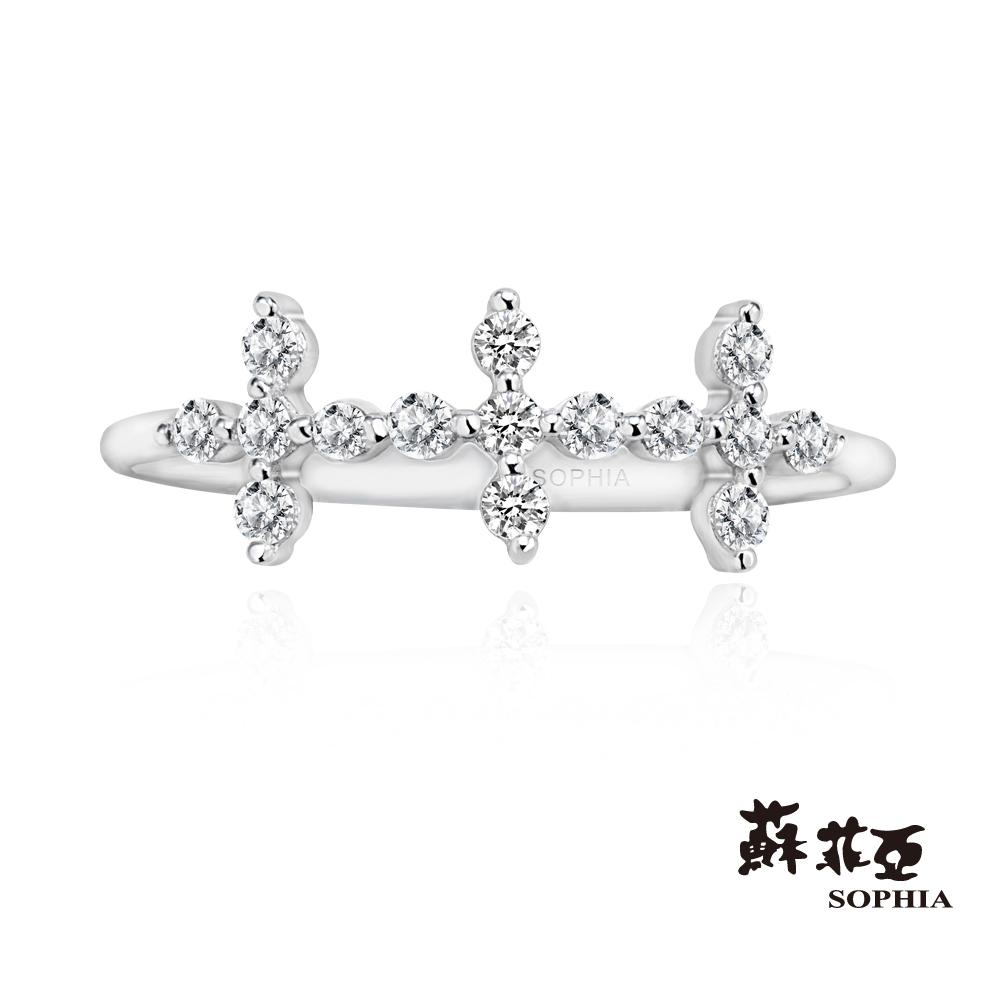 蘇菲亞SOPHIA 鑽石尾戒-信念十字架造型尾戒