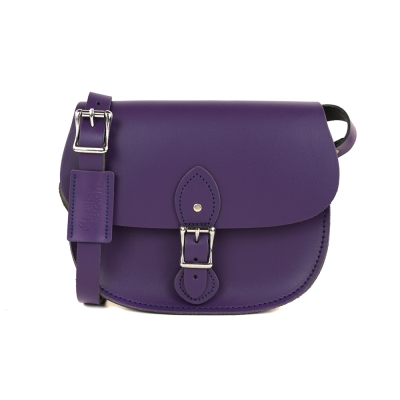 The Leather Satchel 英國手工牛皮馬鞍包 手拿 肩背包 舞夜紫