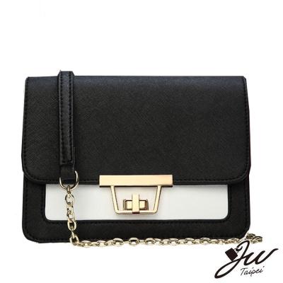 JW-真皮丹麥女孩新時尚肩背鏈袋牛皮包-共三色