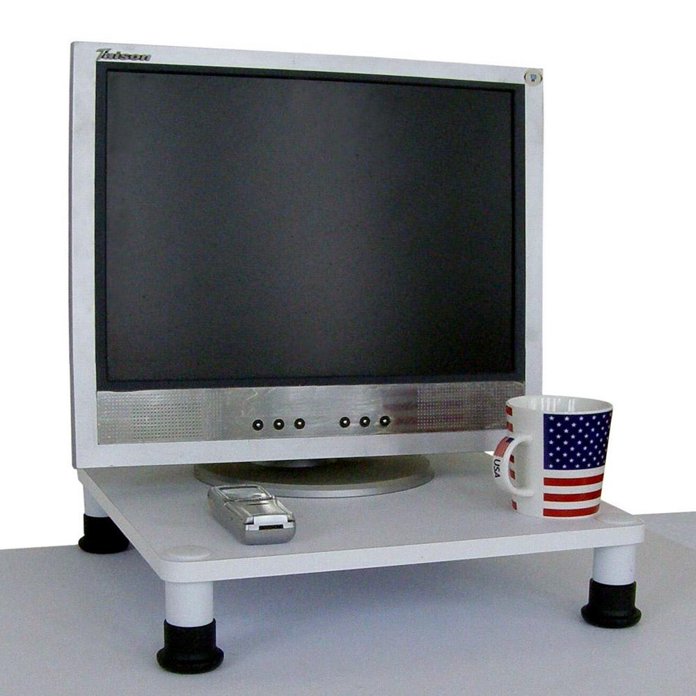 MIT 桌上型置物架深40x寬40(素雅白色)