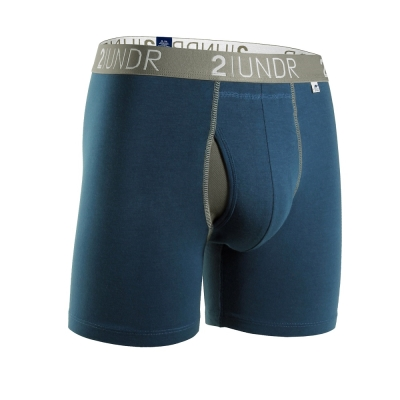 2UNDR Swing Shift 莫代爾吸排四角內褲(6吋)-海軍藍