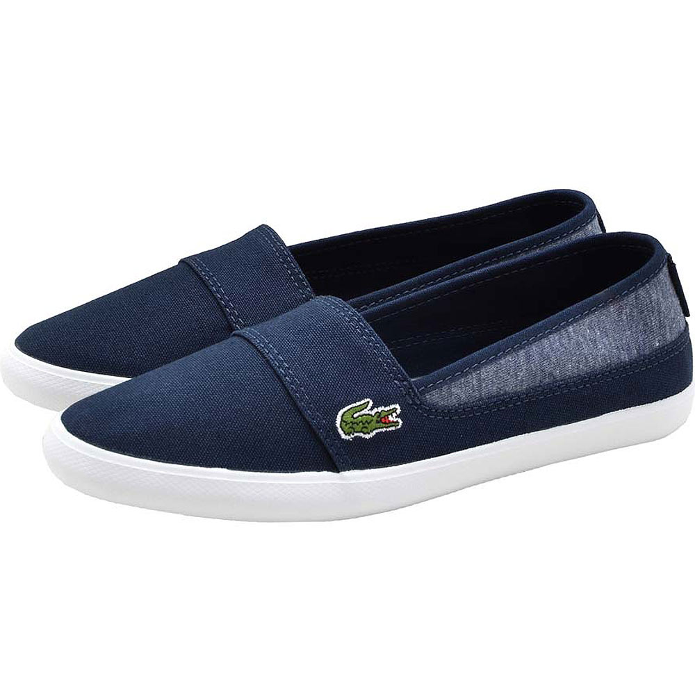 Lacoste MARICE 女用休閒帆布鞋/懶人鞋-藍色