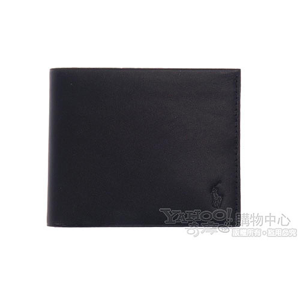 【POLO Ralph Lauren】極簡時尚短夾-黑