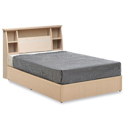 愛比家具 雅緻水鑽單人 3 . 5 尺床組-床頭箱+床底(白橡、胡桃兩色可選)