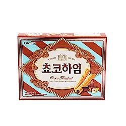 韓國Crown 巧克力榛果醬威化條(142g)