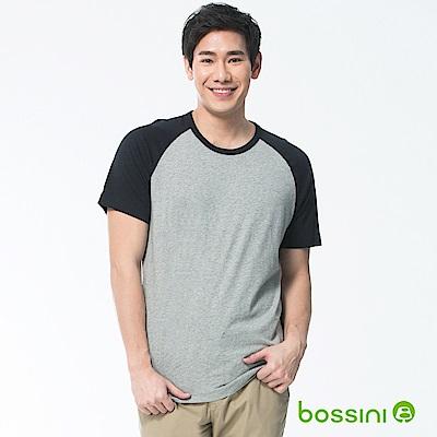 bossini男裝-素色純棉圓領T恤02淺灰