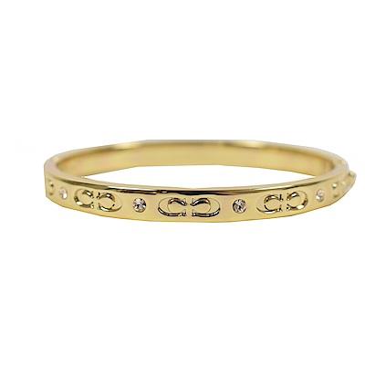COACH 經典LOGO簡約式手環(金色)
