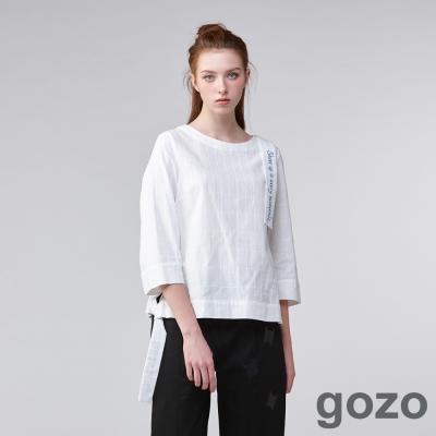 gozo 摩登標語十字星格紋上衣(二色)