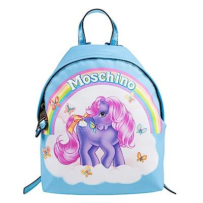 MOSCHINO MY LITTLE PONY系列夢幻可愛的彩虹小馬後背包