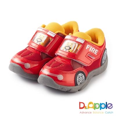 Dr. Apple 機能童鞋 可愛俏皮人物開車碰碰運動童鞋款 紅