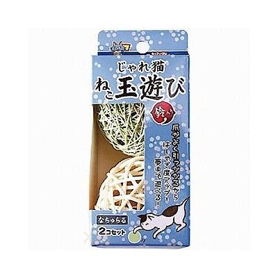 CattyMan 貓用彩色藤編鈴鐺球2入 三盒組
