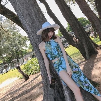 Biki比基尼妮泳衣   綠精靈長裙三件式泳衣比基尼(M-XL)