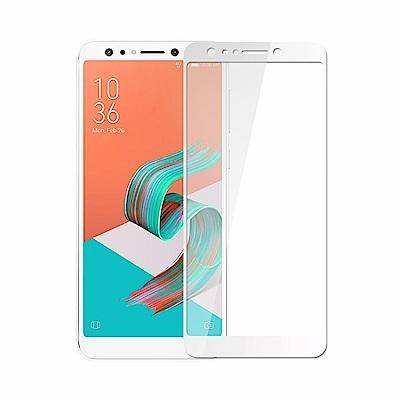 【贈手機支架】ASUS ZF5Q ZC600KL全膠滿版鋼化日規玻璃保護貼-白