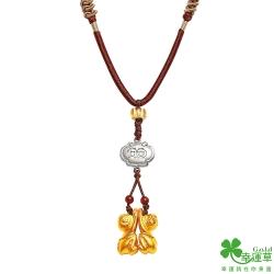 幸運草 金(真)貴人黃金/玉石中國繩項鍊