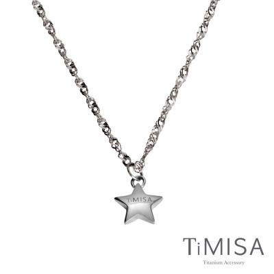 TiMISA《幸運星(M)》純鈦項鍊(10E)