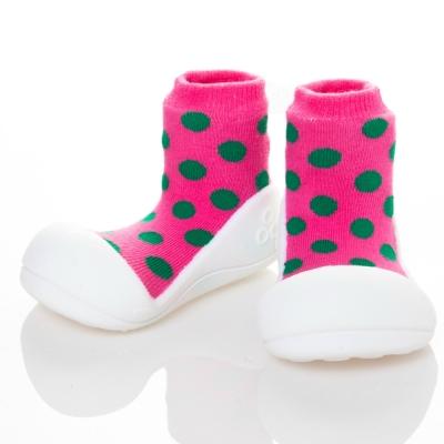 韓國Attipas 快樂學步鞋AD03-圓點粉紅