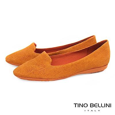 Tino Bellini 巴西進口石頭壓紋舒足樂福鞋_ 橘