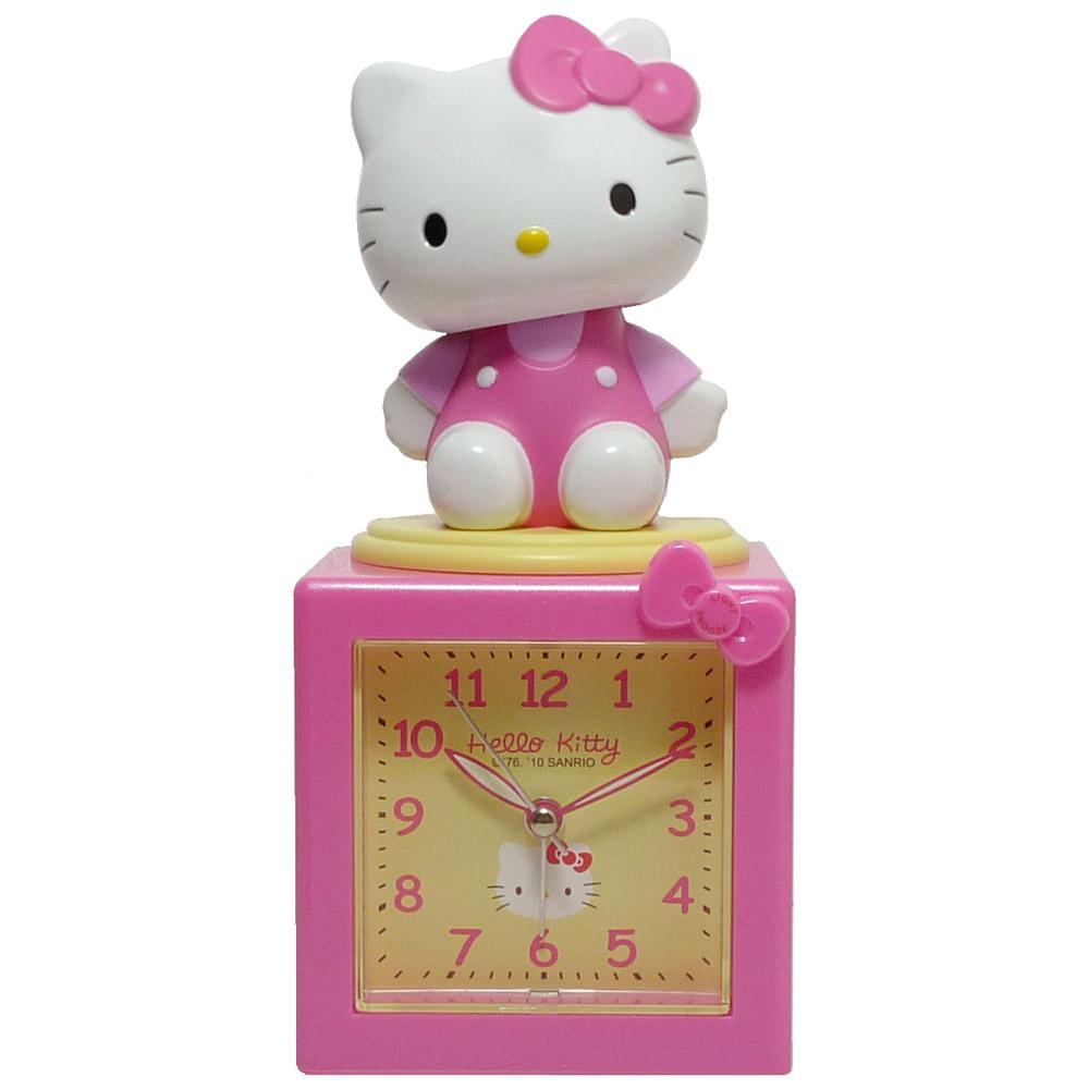 Hello Kitty搖擺公仔超靜音貪睡鬧鐘 JM-E500KT   豆豆投影檯燈