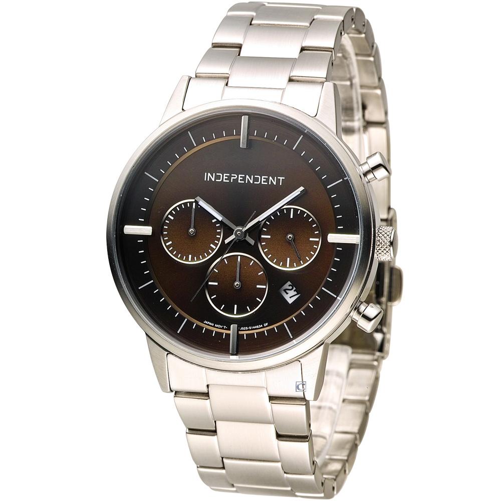 INDEPENDENT 潮流玩酷時尚計時腕錶-咖啡/40mm