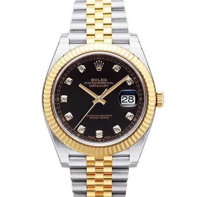 ROLEX 勞力士 126333 蠔式 Datejust 日誌型鑽面腕錶-黑/41mm