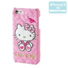 《Sanrio》HELLO KITTY皮革壓紋iPhone5保護殼