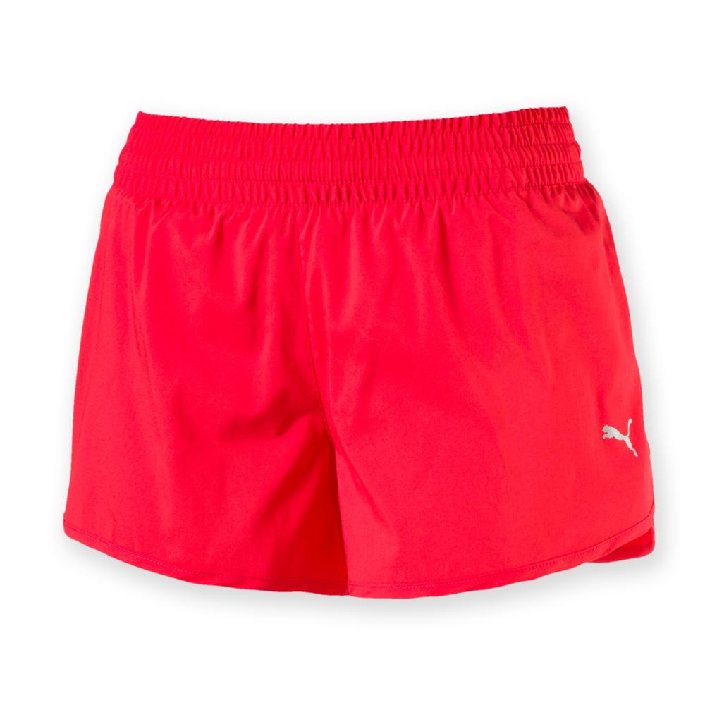 PUMA-女性慢跑系列素色3吋短褲-甜心紅-歐規
