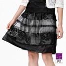 ILEY伊蕾 網紗蕾絲雙層絲緞裙