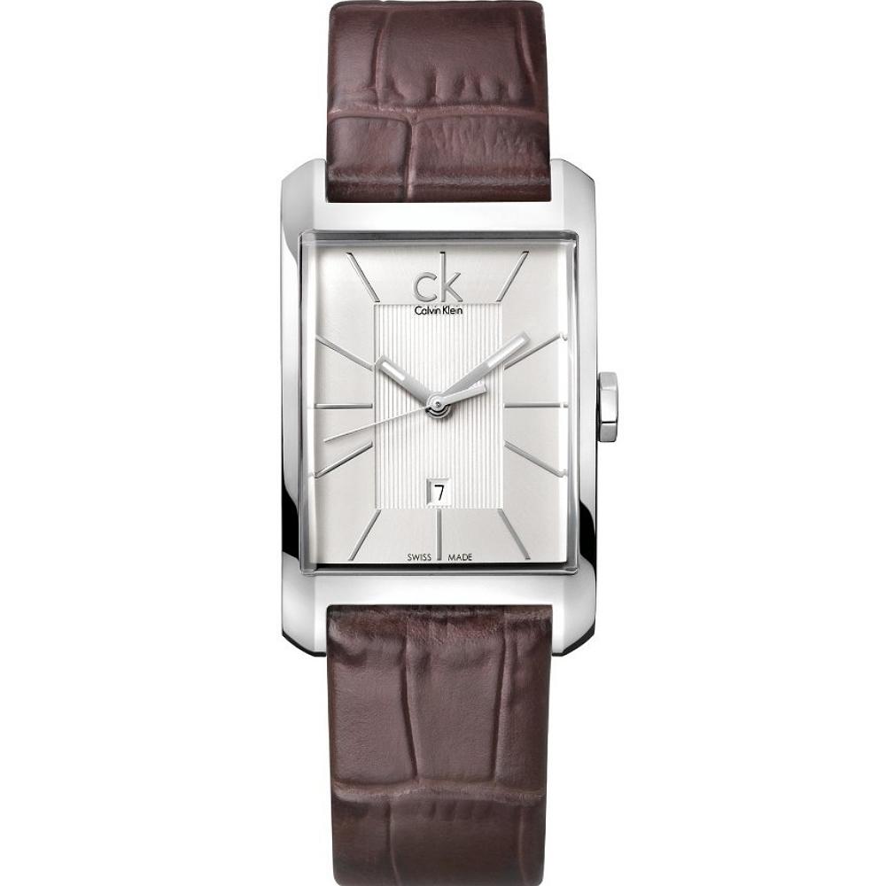CK Window 櫥窗系列線條設計女錶-咖啡(K2M23126)/32*25mm